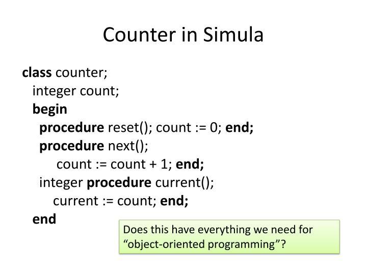 Counter in Simula