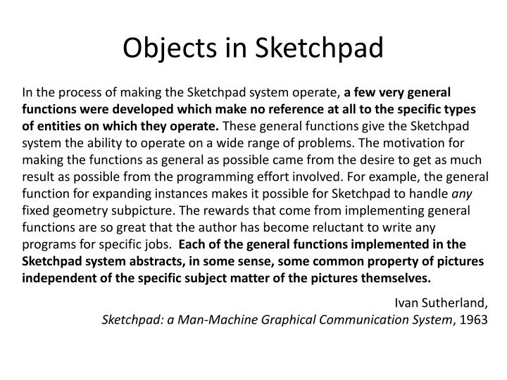 Objects in Sketchpad