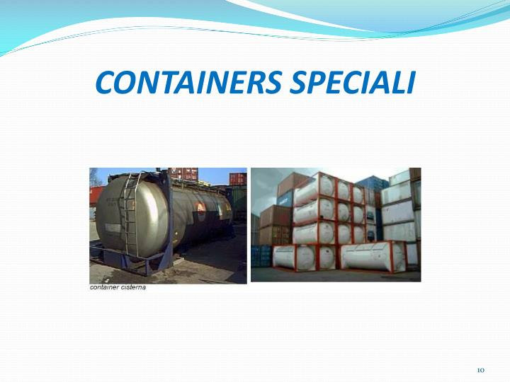 CONTAINERS SPECIALI