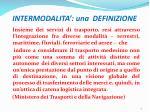 intermodalita una definizione