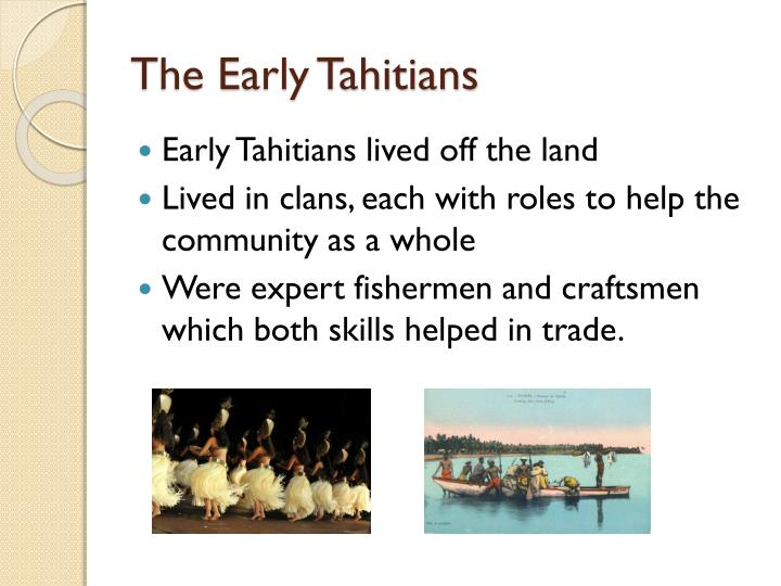 The Early Tahitians