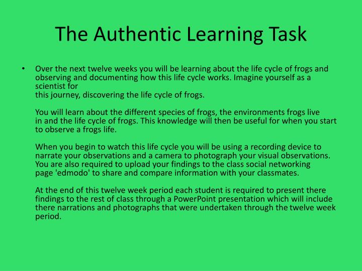 The Authentic Learning Task