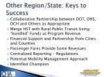 other region state keys to success
