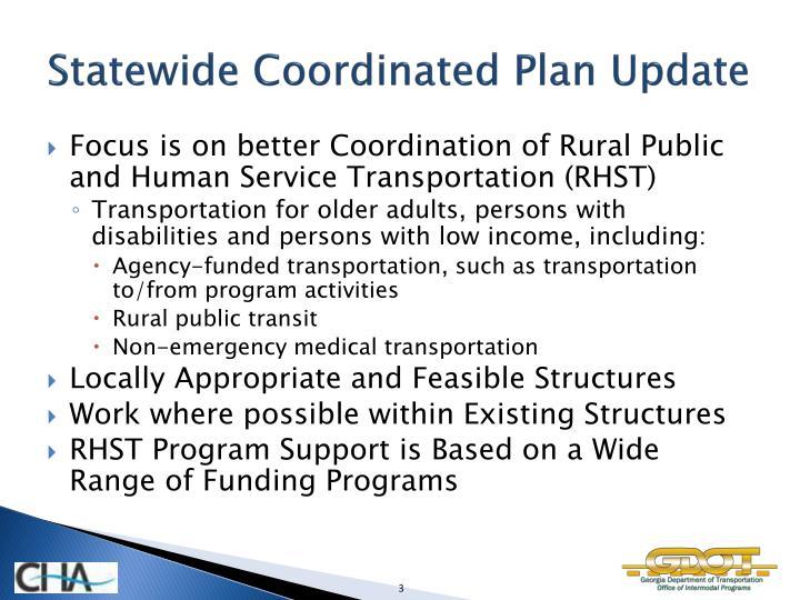 Statewide Coordinated Plan Update