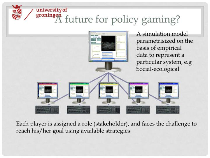 A future for policy gaming?