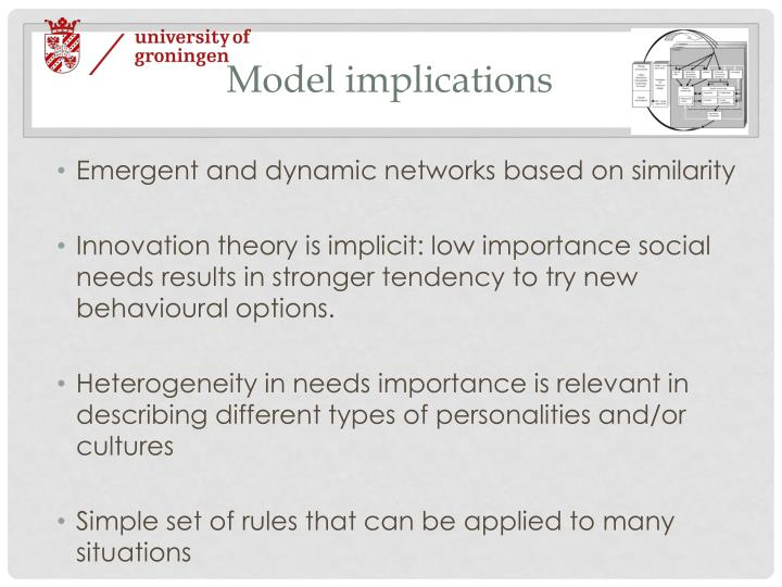 Model implications
