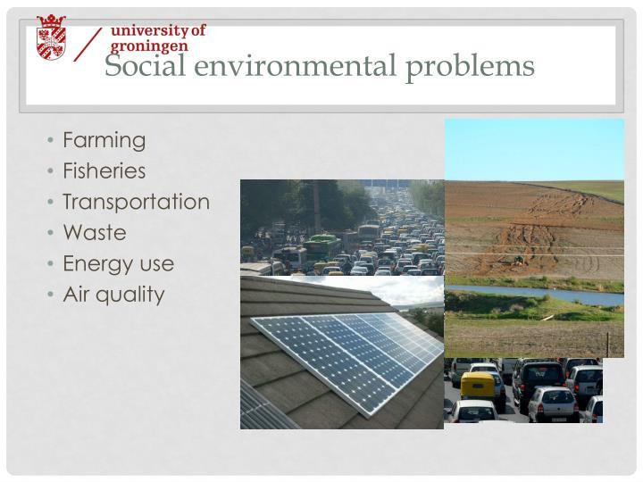 Social environmental problems