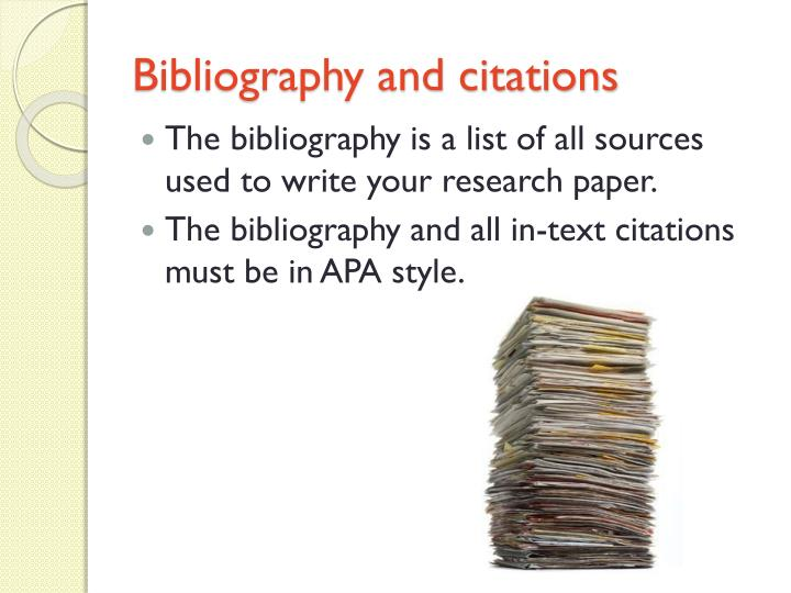 Bibliography and citations