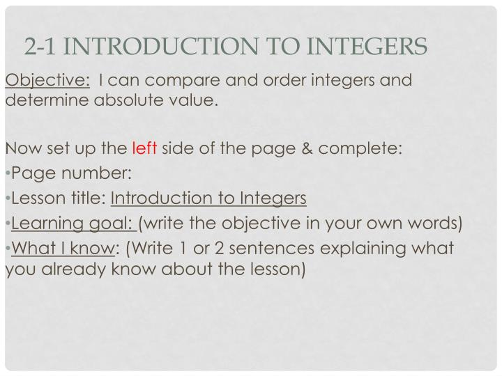 2 1 introduction to integers