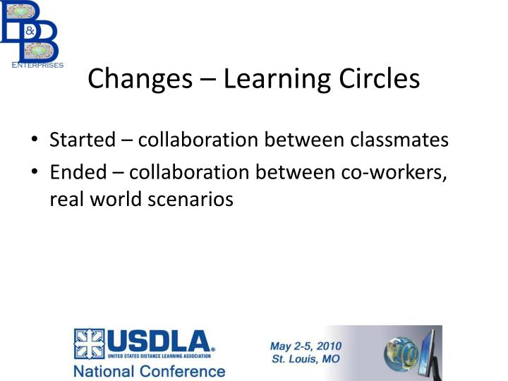 Changes – Learning Circles