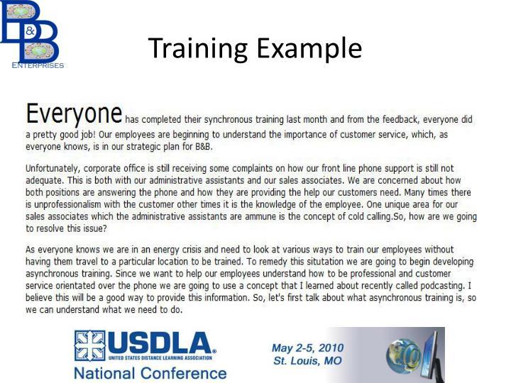 Training Example