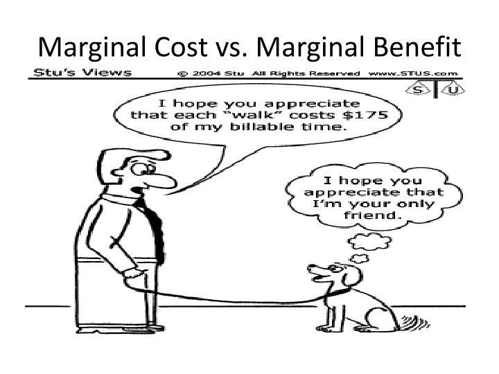 Marginal Cost vs. Marginal Benefit