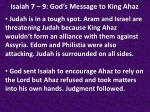 isaiah 7 9 god s message to king ahaz