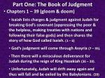 part one the book of judgment