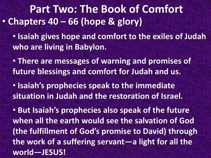 Chapters 40 – 66 (hope & glory)
