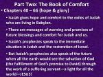 part two the book of comfort