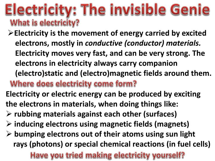 Electricity: The invisib