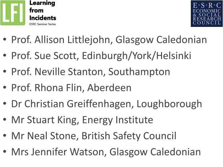 Prof. Allison Littlejohn, Glasgow Caledonian