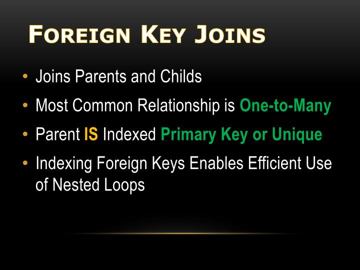 Foreign Key Joins