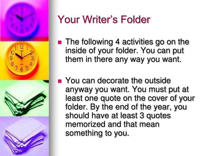 Your Writer's Folder
