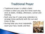 traditional prayer