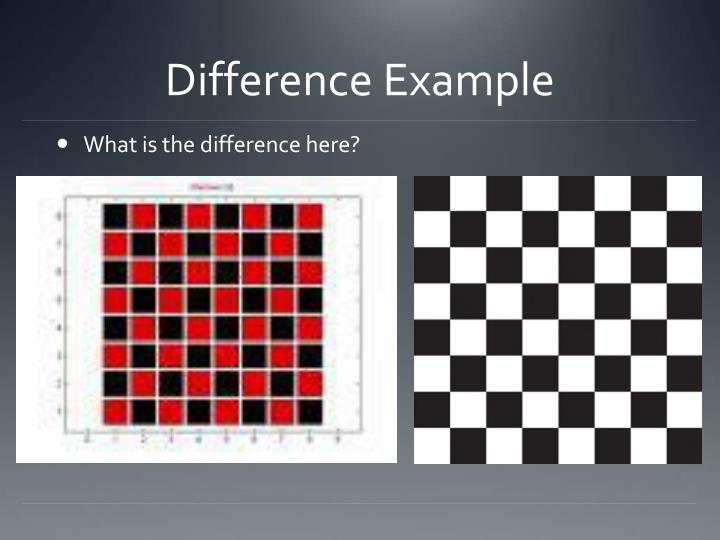 Difference Example