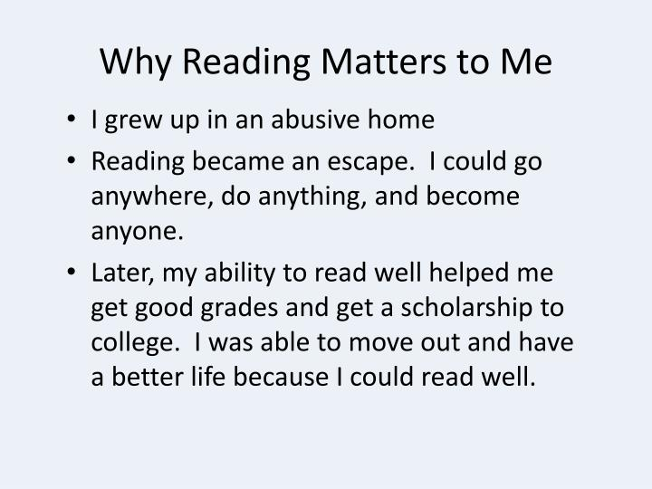Why Reading Matters to Me