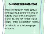 c conclusion connection