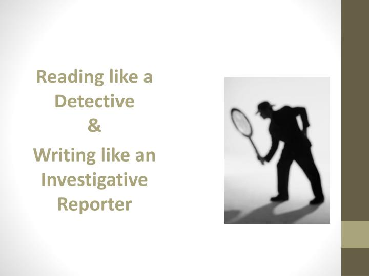 Reading like a Detective
