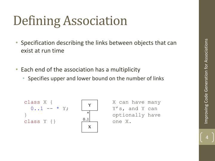 Defining Association