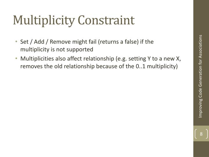 Multiplicity Constraint