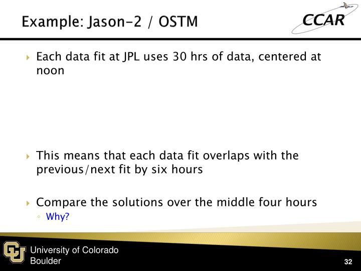 Example: Jason-2 / OSTM