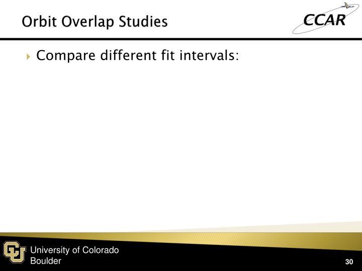 Orbit Overlap Studies