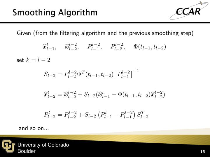 Smoothing Algorithm