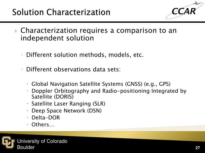 Solution Characterization