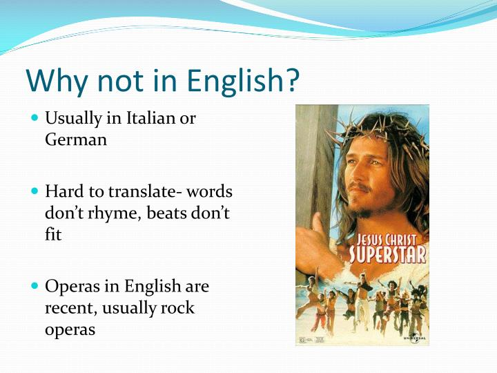 Why not in English?