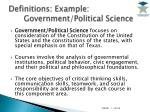 definitions example government political science