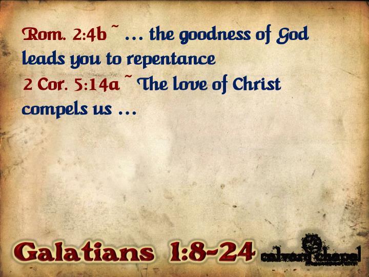 Rom. 2:4b ~