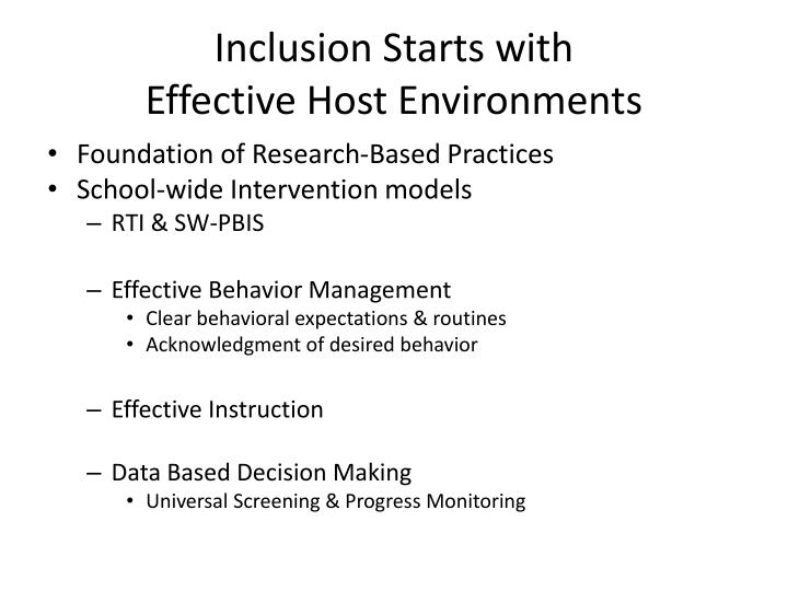 Inclusion Starts with