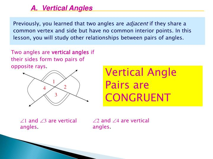 A.  Vertical Angles