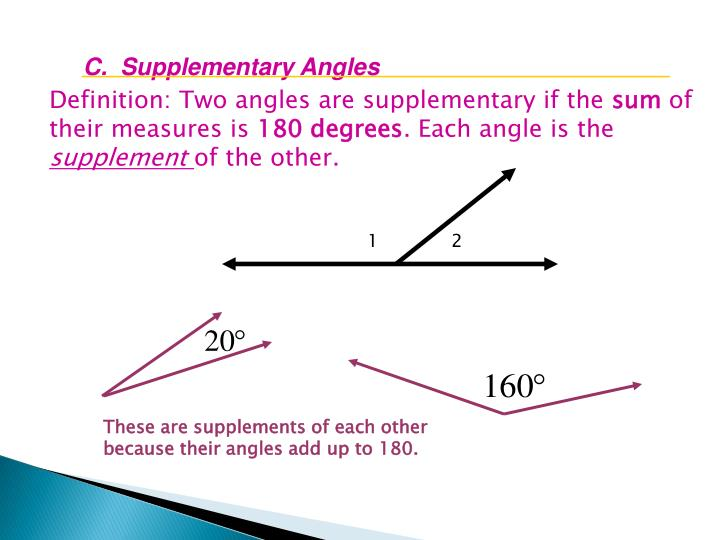 C.  Supplementary Angles