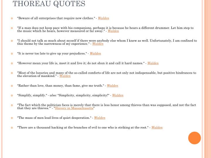 Thoreau quotes