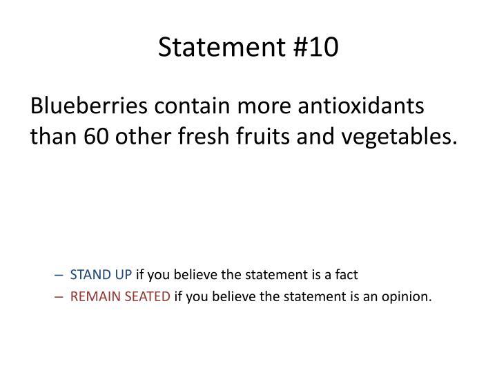 Statement #10