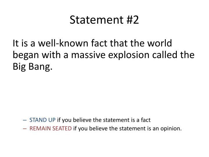 Statement #2