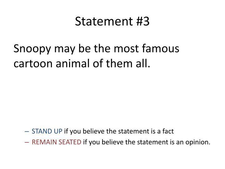 Statement #3