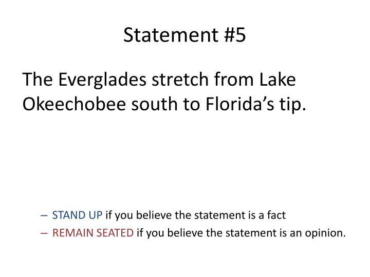 Statement #5