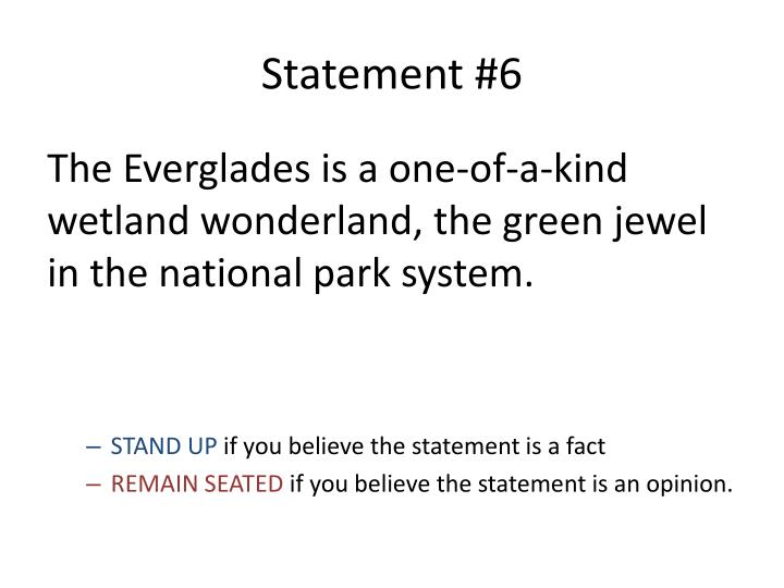 Statement #6