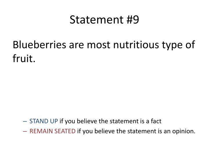 Statement #9