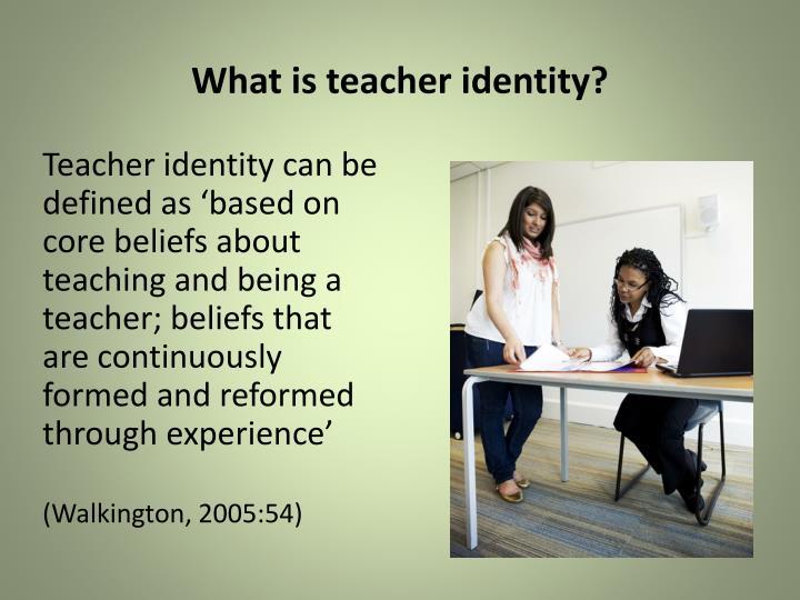 What is teacher identity?