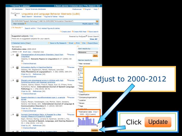 Adjust to 2000-2012